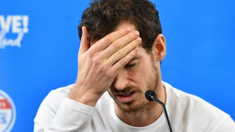 Career over? Andy Murray.