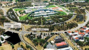 Addval snapped up a 1.33 hectare site at Block 13, Section 13, Forrest, at auction for $20.1 million