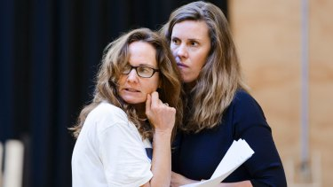 Catherine McClements and Katherine Tonkin during rehearsals for Three Little Words.