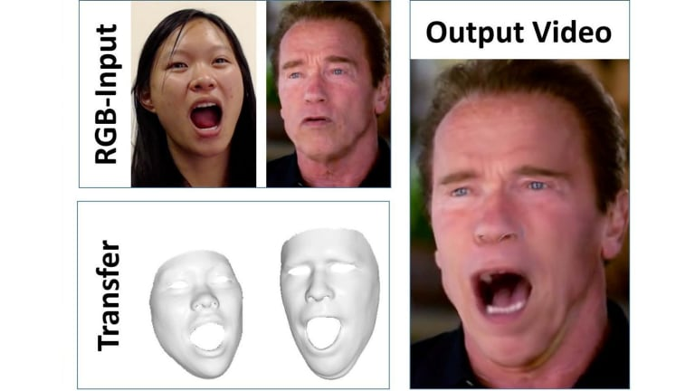 The software reads both facial structures simultaneously.