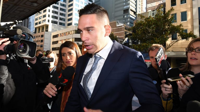 Drama: Corey Norman appears at the Downing Centre Court on drug charges last July.