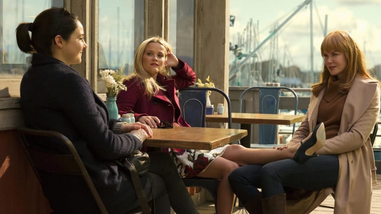 'We were frustrated because there wasn't the roles for us' ... Nicole Kidman (right) in Big Little Lies with Shailene Woodley (left) and Reese Witherspoon.