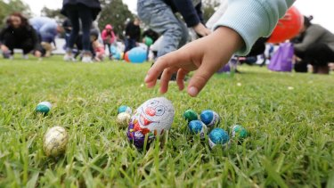 Geelong Easter Egg Hunt organisers have bitten back, accusing parents of hoard dozens of eggs.