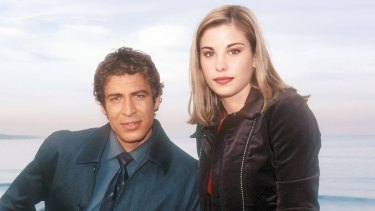 Brooke Satchwell with Don Hany in <i>White Collar Blue</i>.