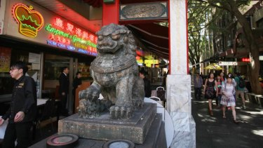 Geared up for New Year: Sydney's Chinatown.