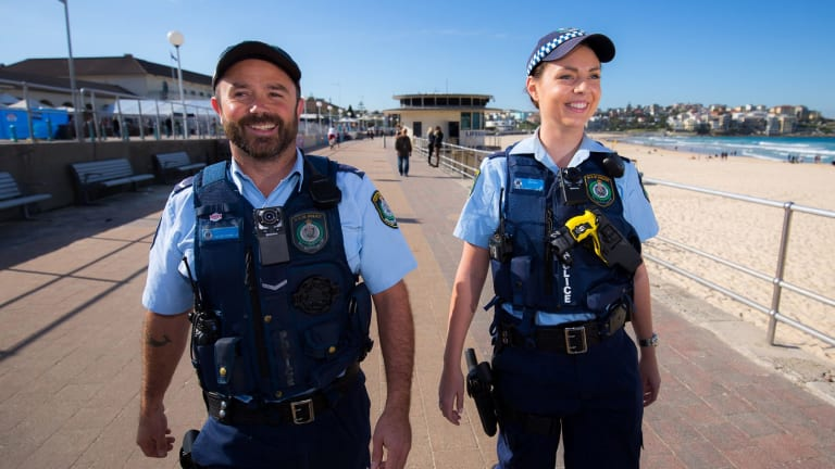 New body camera equipment that will be worn by NSW Police.