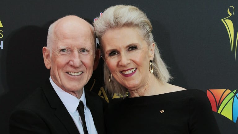 Dennis Coard and Debra Lawrance arrive at the AACTA Awards at The Star.