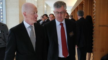 RBA Governor Glenn Stevens and Mr Parkinson at the National Reform Summit in Sydney on Wednesday.