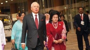 Malaysia's Prime Minister Najib Razak with his wife  Rosmah Mansor, last year.