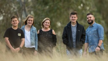 Melissa and John Grigsbey and their three children Georgia,19, Alexander, 16, Samuel, 11. Melissa believes families should be informed about pre-pregnancy carrier screening.
