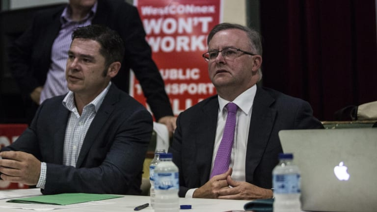 Greens candidate Jim Casey and rival Labor MP Anthony Albanese.
