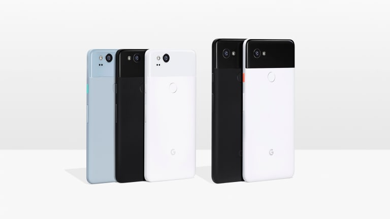 The new Pixel 2 and Pixel 2 XL smartphones.