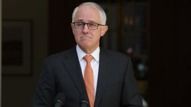 Prime Minister Malcom Turnbull after the High Court ruling.