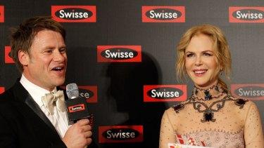 Radek Sali with Nicole Kidman at a Swisse event in Shanghai in 2016,