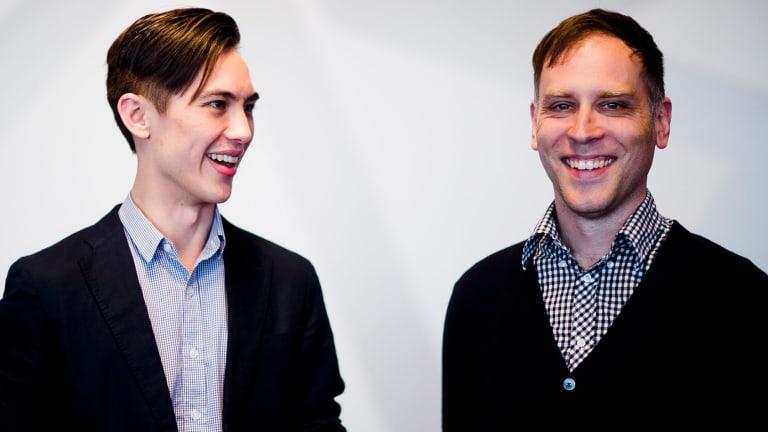 Road to success: <i>Crossy Road</i> creators Andrew Sum and Matthew Hall.