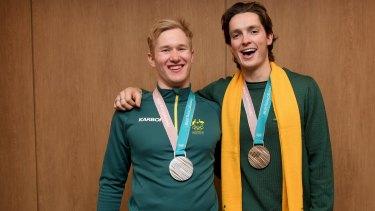 Medallists: Jarryd Hughes, left, and Scotty James.