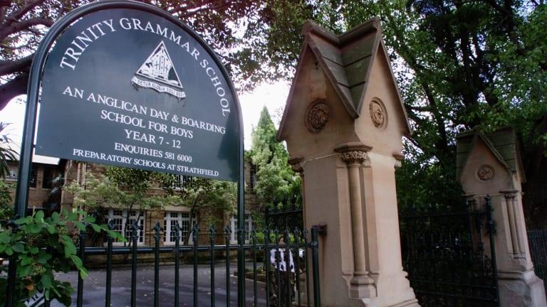 The main school entrance of Trinity Grammar in Summer Hill.