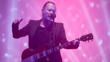 Thom Yorke from Radiohead.