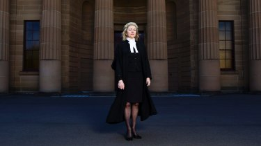 Margaret Cuneen outside the Darlinghurst Courthouse in Sydney.