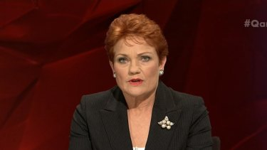 Pauline Hanson Hanson has indicated that she remains unconvinced by tax cuts for bigger businesses.