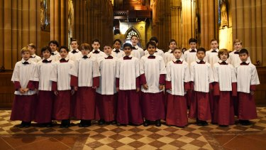 The boys of St Mary's Cathedral Choir.