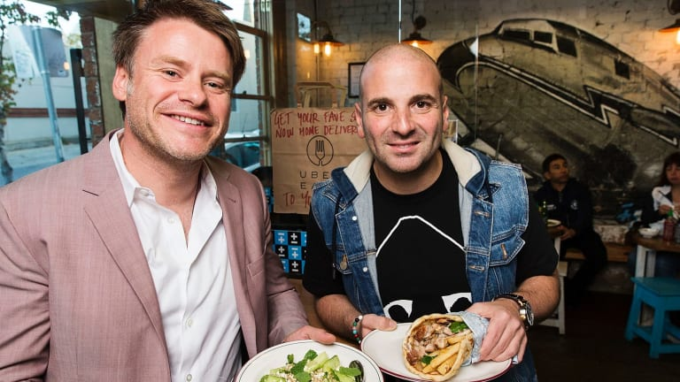 George Calombaris (right) and business partner Radek Sali.