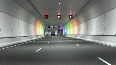 An artist's impression of the West Gate Tunnel.