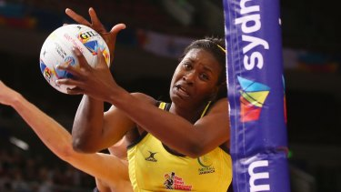 Star player: Jamaican goal shooter Romelda Aiken.