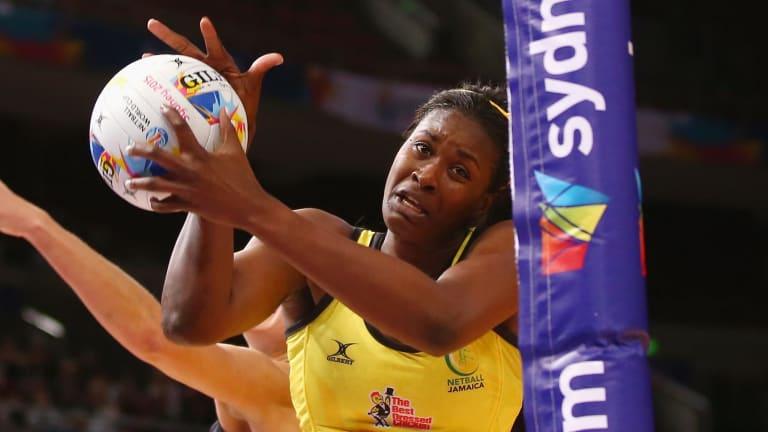 Star player: Jamaican goal shooter Romelda Aiken.