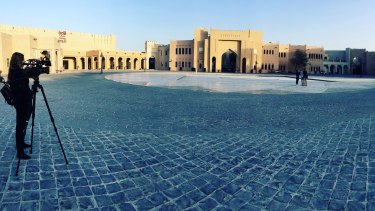 Katara Cultural Village in Doha. Security around this area was tight.