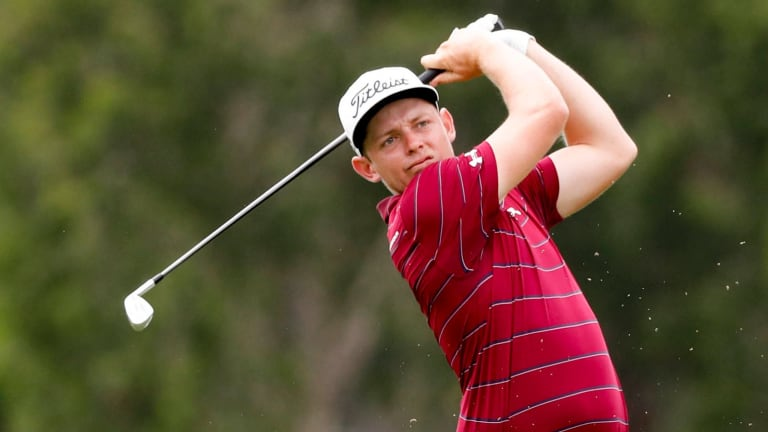 Tense times: Cameron Smith took out the title after a tense play-off across two extra holes.