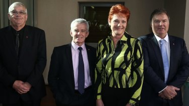 Rod Culleton with One Nation leader Pauline Hanson.
