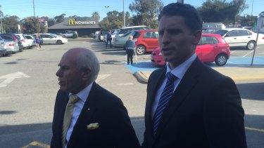 Former prime minister John Howard visited candidate Andrew Hastie in Mandurah.