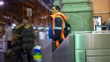 Matte Dunn at Flinders Street Station in Melbourne during the early days of InfoGuy.