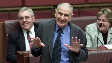 Senator Barney Cooney farewells the Senate.
