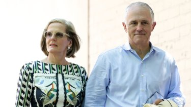 First couple Malcolm and Lucy Turnbull.