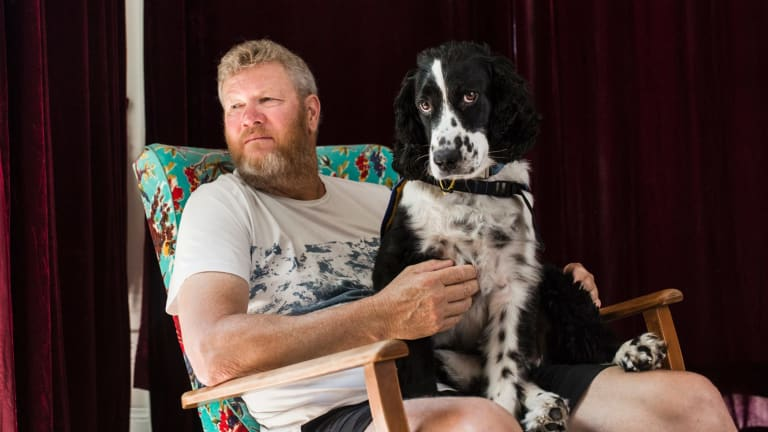 Michael has used an assistance dog following a PTSD diagnosis after a long career as a firefighter.