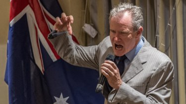 Former Liberal MP and Sky News host Ross Cameron at the Q Society fundraiser in February.