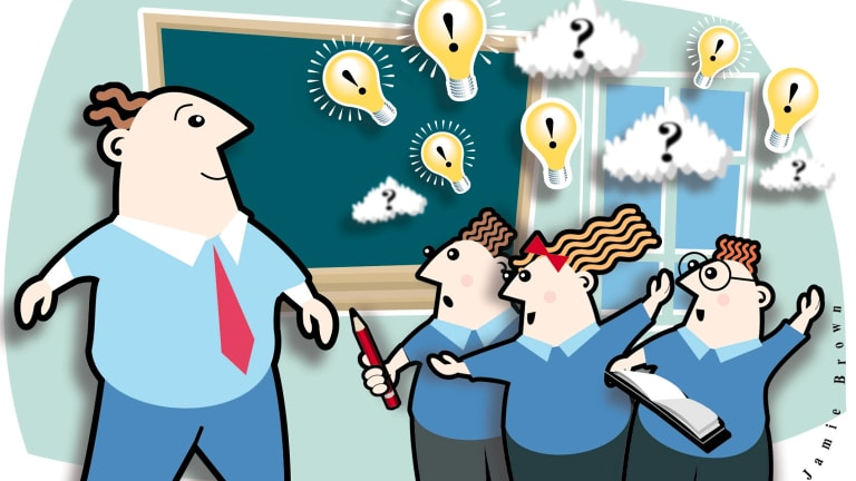 Room for improvement: students think up ways teachers could improve their teaching.