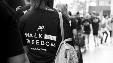 Sydney will begin the day of global walks to end slavery, which will unfold in 39 countries.