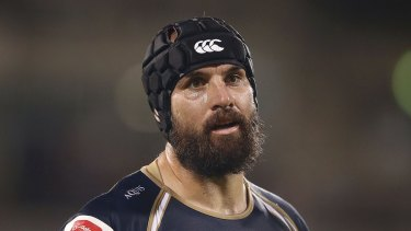 Giant effort: Scott Fardy put in another big shift for the Brumbies against the Highlanders.