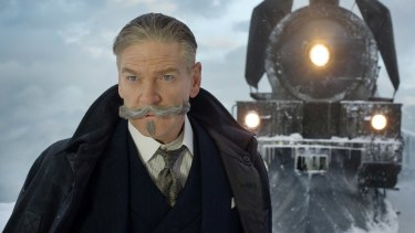 Kenneth Branagh stars as Hercule Poirot in the new Murder on the Orient Express.