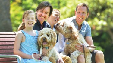 Lee Matthews and Tony Wood, fathers of Xan and Luci, campaigned to change Victoria's adoption laws.