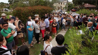 Bidders: Rapid population growth in Sydney is putting pressure on housing stock and property prices.