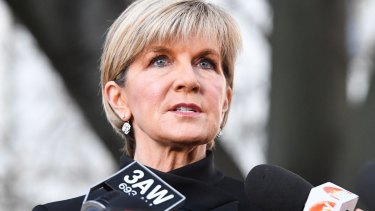 Australian Foreign  Minister Julie Bishop.