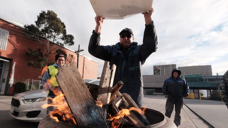 Union members have been picketing the brewery for 100 days.