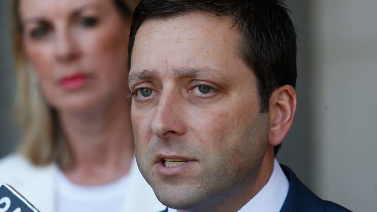 Victorian Opposition Leader Matthew Guy