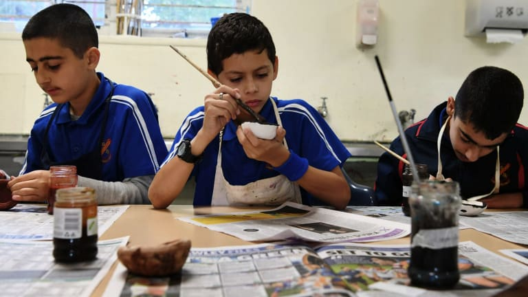 Year 7 students at Liverpool Boys High School are taught through project-based learning instead of traditional classes.