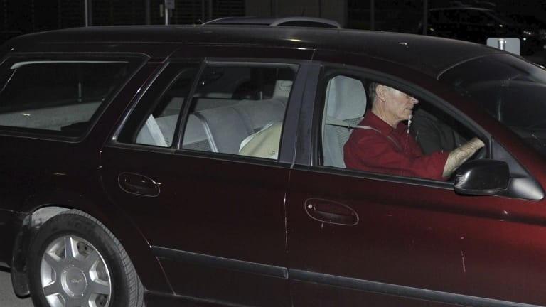 Released: David Eastman is driven from jail in August 2014.