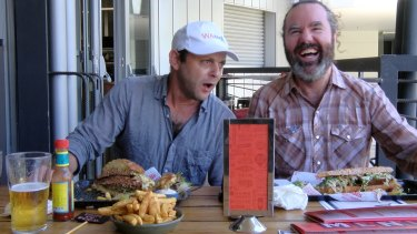 Two pathetic challengers at NBC's Man v Food contest.